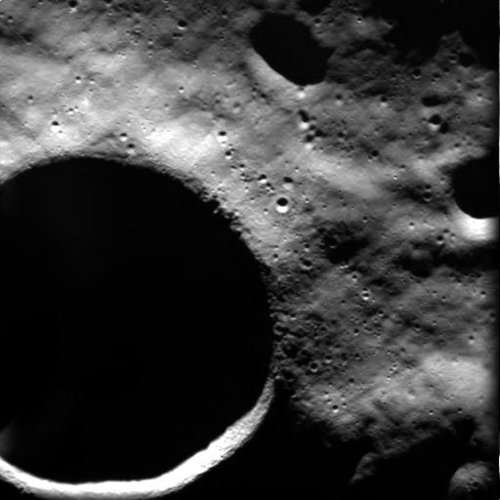 SMART-1 view of Shackleton crater at lunar South Pole