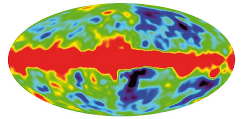 Temperature variations in the cosmic microwave background