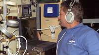 Reiter using communication headset