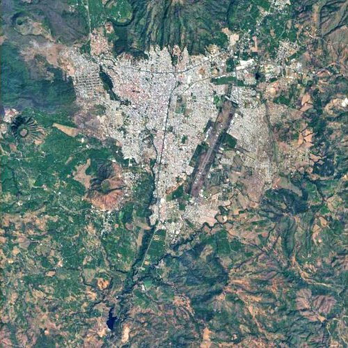 Uruapan, Mexico, captured by Proba