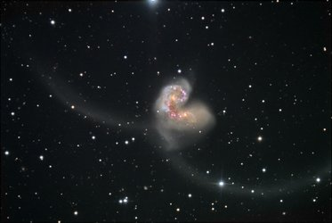 Wide ground view of the Antennae galaxies