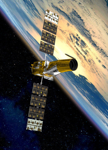 Artist's view of COROT satellite