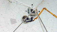 Cebreros Antenna - Adjusting the hyperbolic subreflector