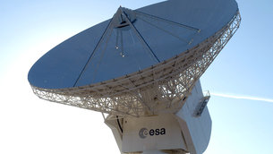 ESA's Cebreros station, DSA 2 (Deep Space Antenna 2), is located 77 kms west of Madrid, Spain. It hosts a 35-metre antenna providing routine support to deep-space missions including Mars Express, Gaia and Rosetta.