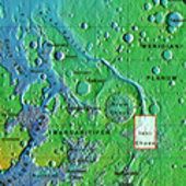 Context map of the Iani Chaos region on Mars