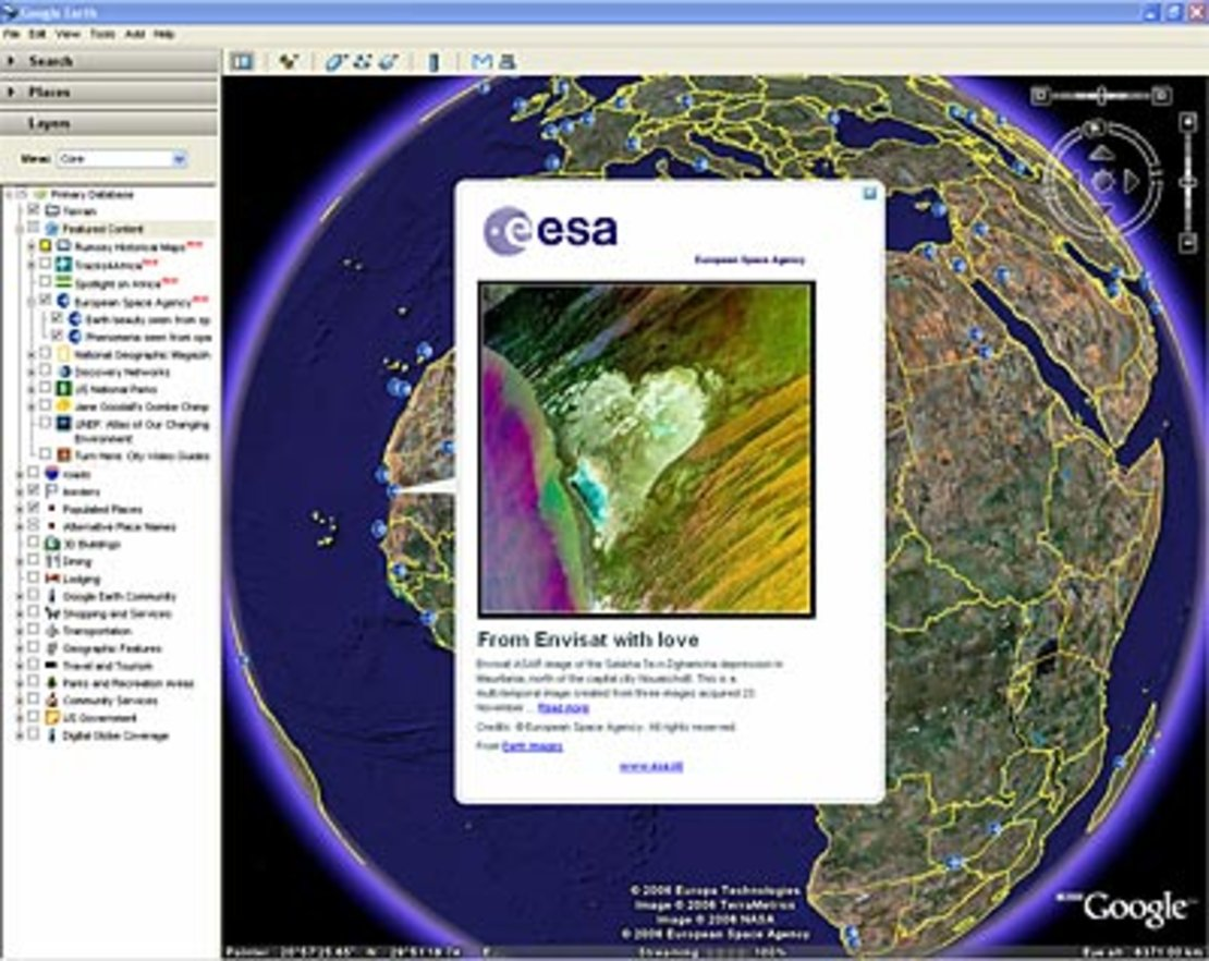 ESA images in Google Earth / 11 / 2006 / Images / ESA