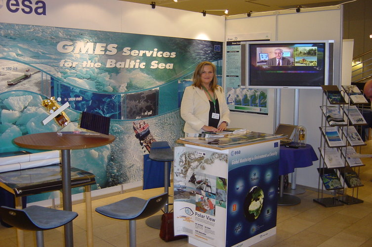ESA stand at the Baltic Sea and European Marine Strategy conference in 2006