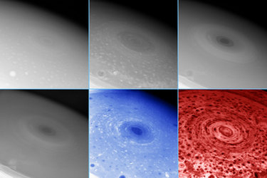 Hurricane-like storm swirling at Saturn's South pole