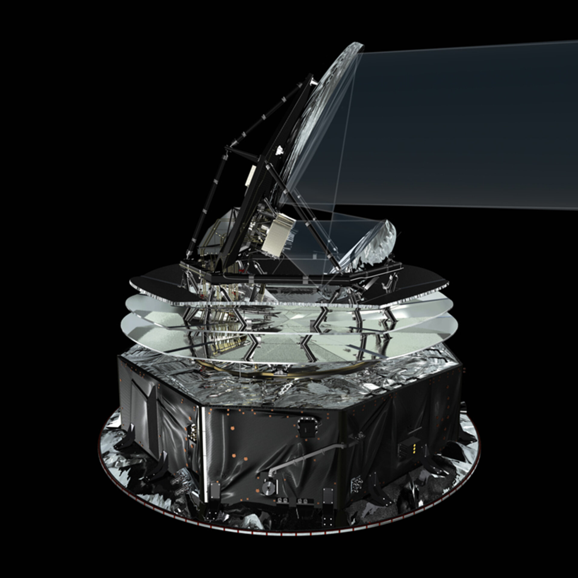 Planck satellite and telescope