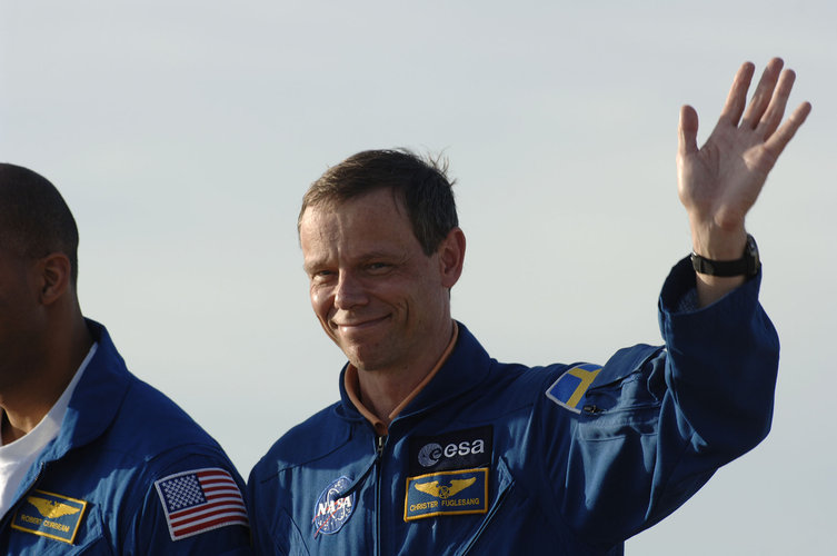 STS-116 crew arrive for the final training at NASA's Kennedy Space Center, in Cape Canaveral, Florida