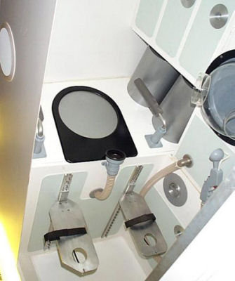 Toilet on the ISS
