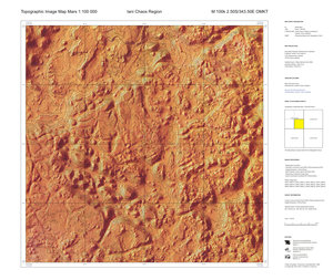 Topographic map of Mars at 1:100 000
