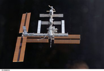 View of the ISS after undocking of STS-115