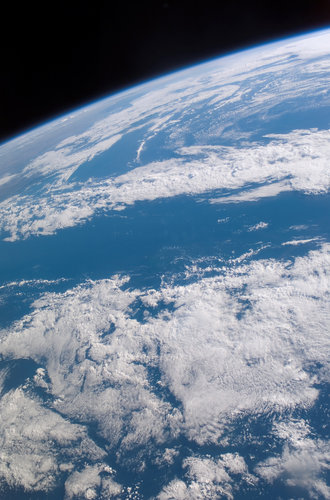 A view of the Earth from on board the International Space Station