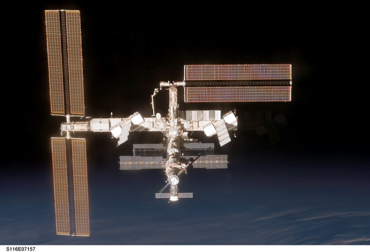 A view of the International Space Station following the STS-116 Shuttle mission