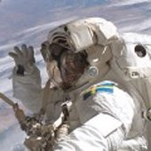 Fuglesang during his second spacewalk