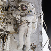 Fuglesang during his third spacewalk