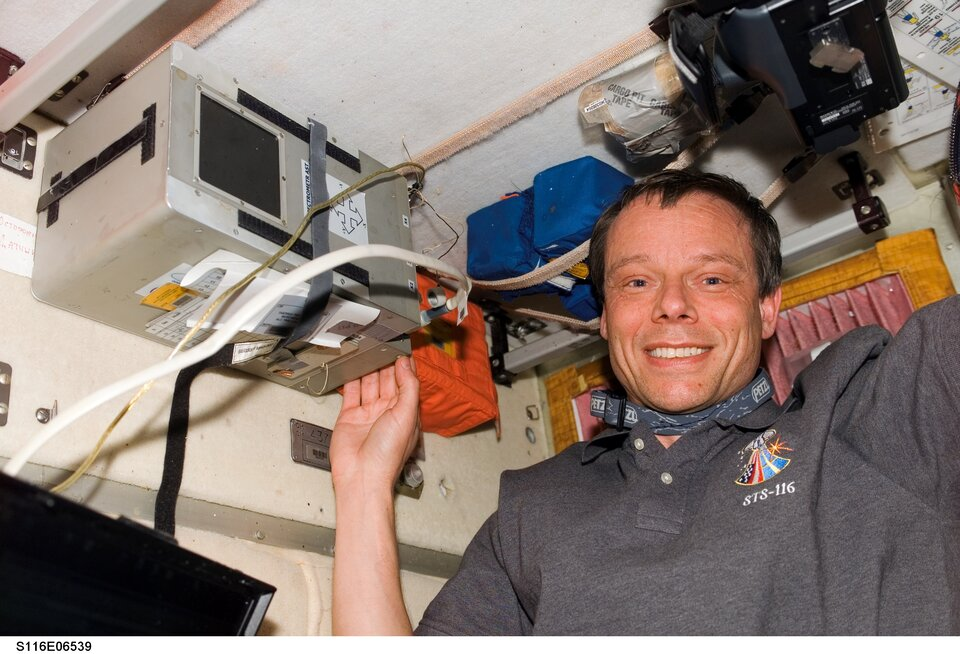 Christer Fuglesang arrived with the STS-116 crew