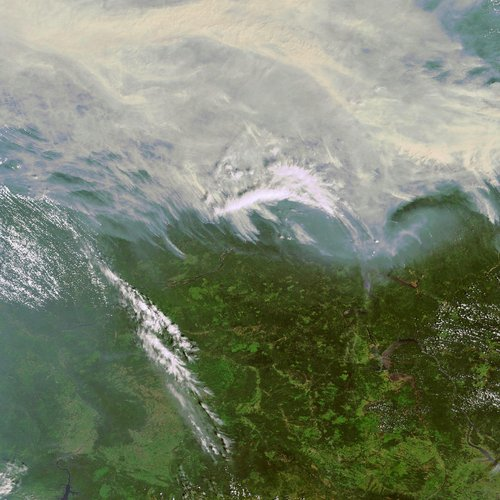 Forest fires in Siberia