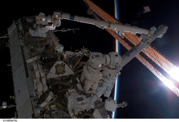 Fuglesang and Curbeam during the second STS-116 spacewalk