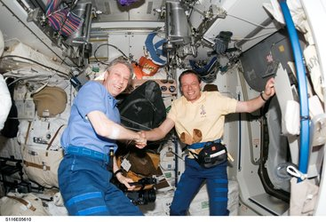 Fuglesang and Reiter - two ESA astronauts reunited in space