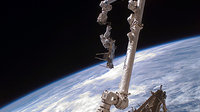 Fuglesang during second spacewalk