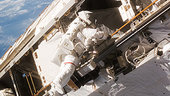 Robert Curbeam during spacewalk