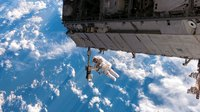 Robert Curbeam during EVA