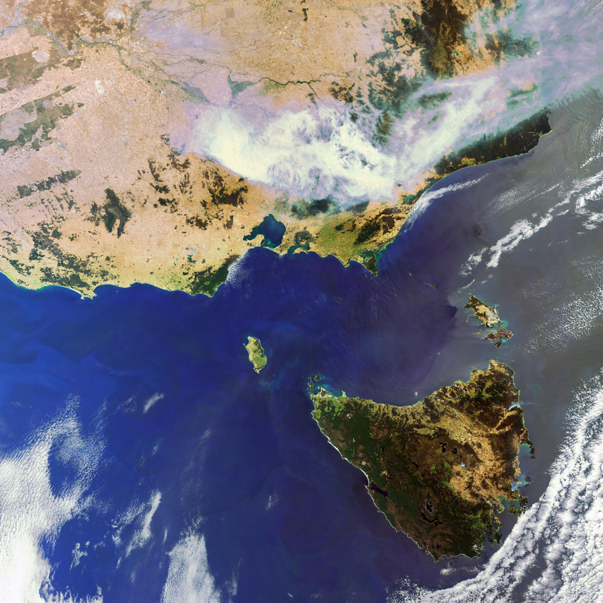 Smoke from fires over Australia captured by Envisat