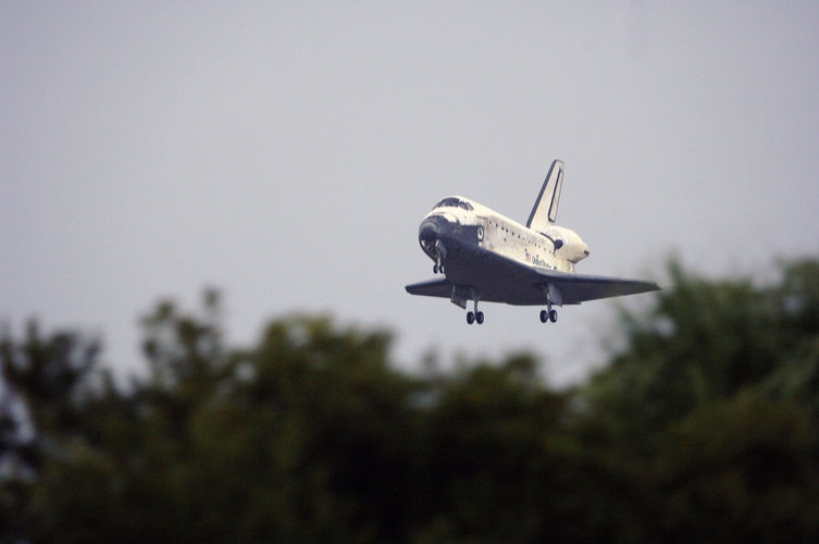 Space Shuttle Discovery lands at Kennedy Space Center
