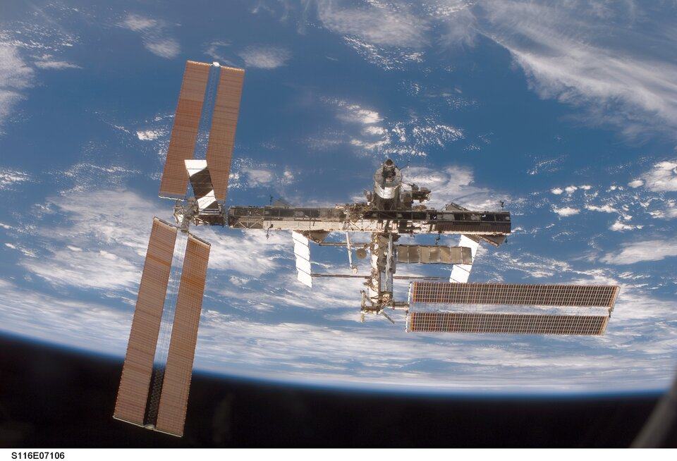 Eyharts will stay on board ISS for two months as a member of the Expedition 16 crew