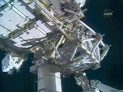 Installation P5 during EVA