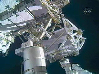 Canadarm2 operated from inside ISS