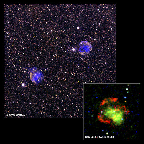 Two supernova remnants in Large Magellanic Cloud