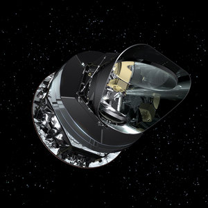 Front view of the Planck satellite