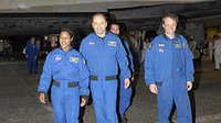 Members of the STS-116 crew at NASA Kennedy Space Center's Shutt