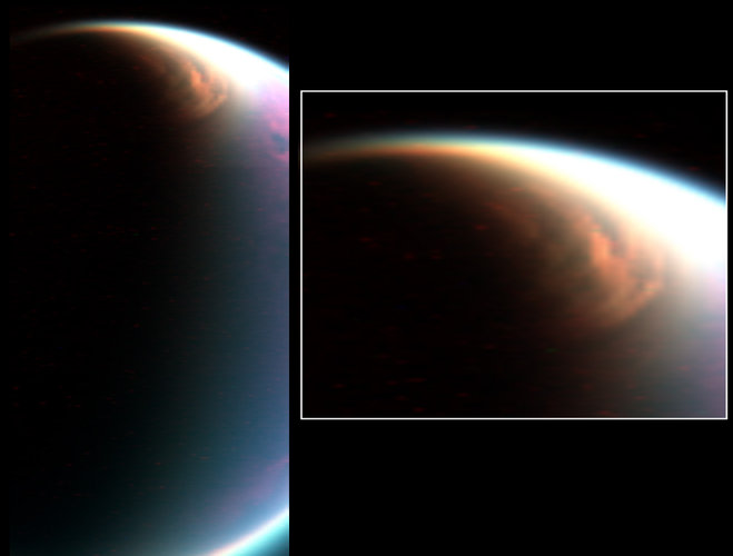 Titan's Giant North Pole Cloud