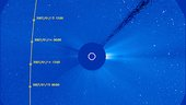Track of comet McNaught through SOHO's coronagraph LASCO C3