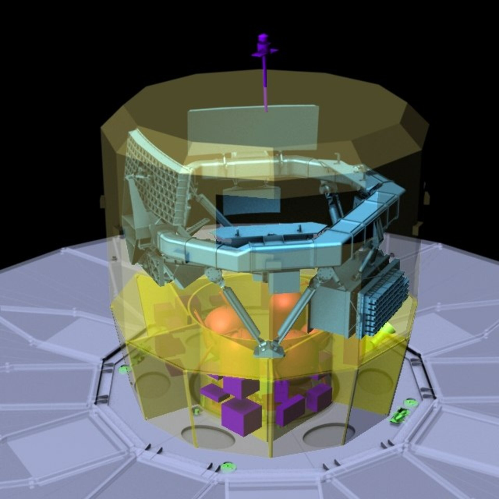 Transparent Gaia spacecraft diagram