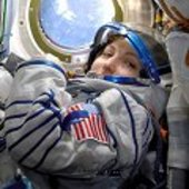 Anousheh Ansari on board Soyuz