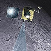 Artist's impression of Chandrayaan-1