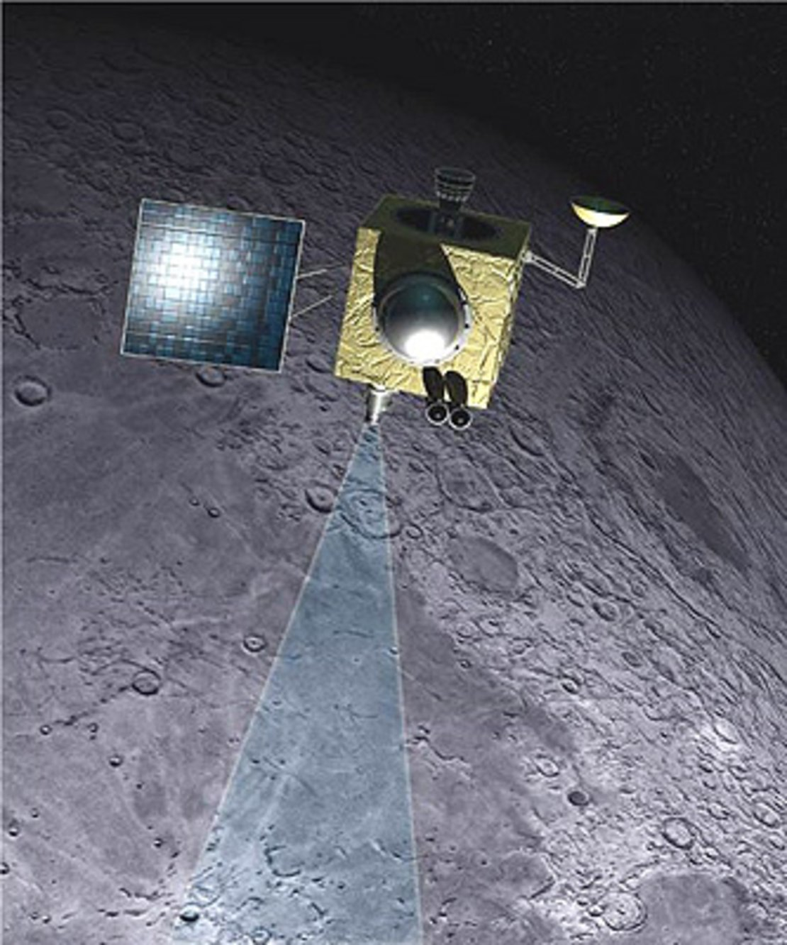 Space in Images - Missions - Chandrayaan-1 - ESA Chandrayaan-1 pictures from moon