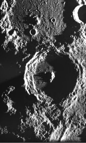 Crater Plaskett seen by SMART-1's camera