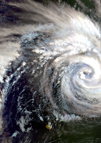 Envisat captures Cyclone Gamede on 23 February 2007