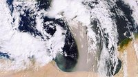A sandstorm over the Mediterranean
