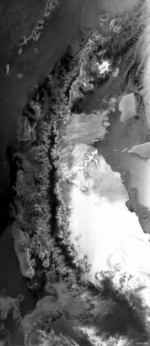 Envisat image of the Larsen-B Ice Shelf