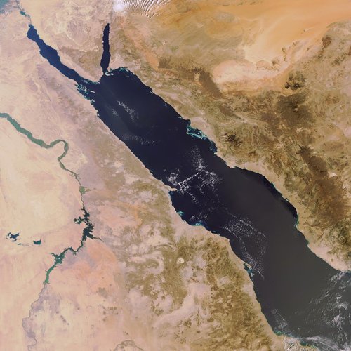 Envisat image over the Red Sea