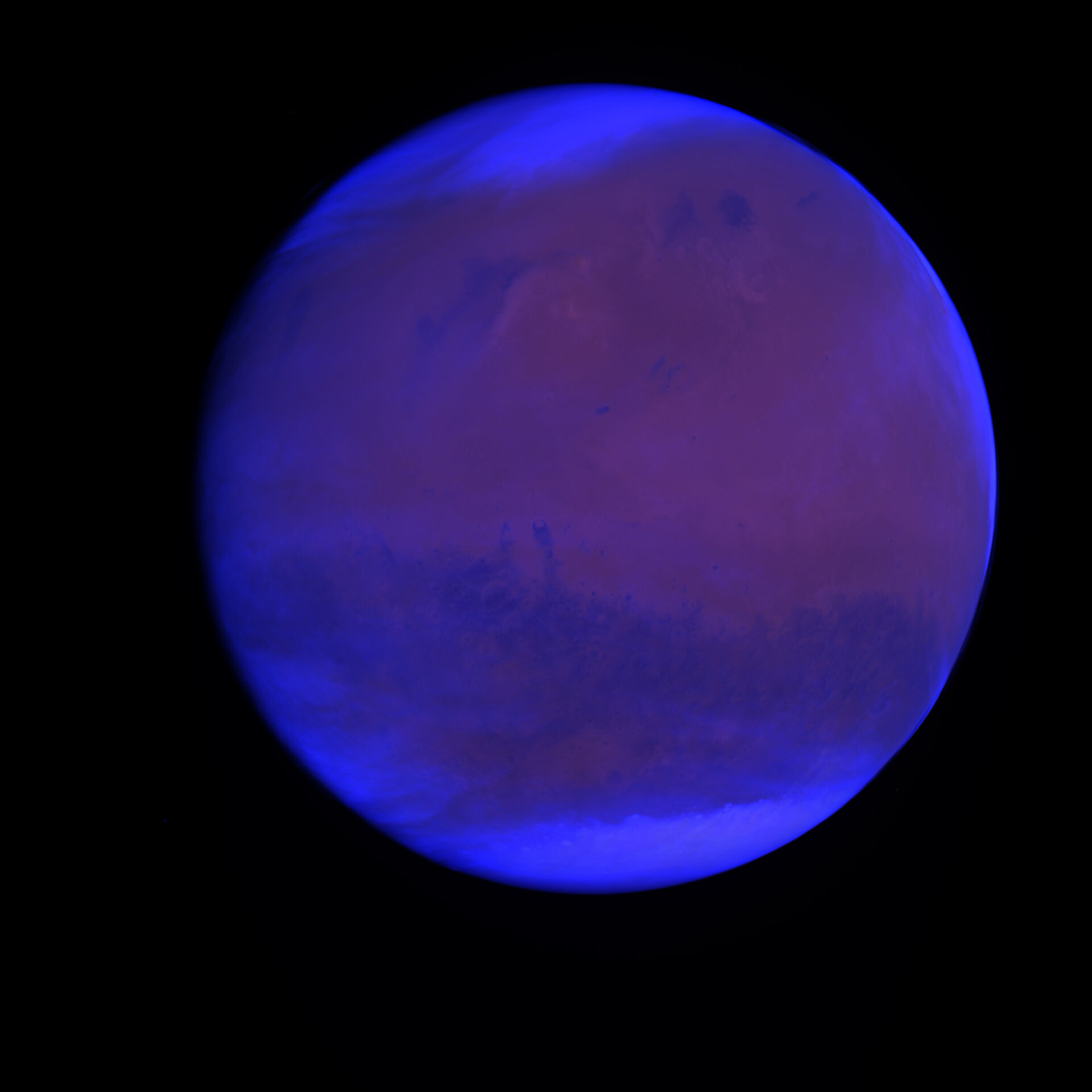 Image of Mars seen by OSIRIS: A cloudy day on Mars