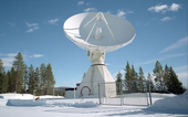 The Kiruna 15m tracking station in Sweden is part of ESA's global Estrack network