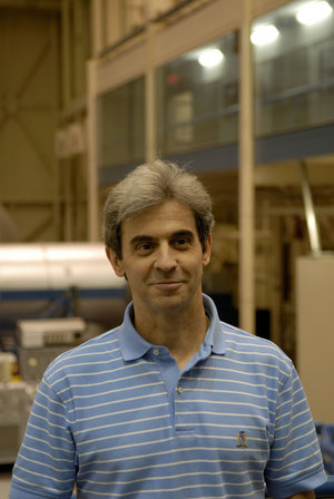 Léopold Eyharts at NASA's Johnson Space Center, in Houston